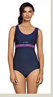 Спортивный купальник  Self  для бассейна p.L синий с розовым