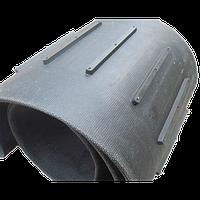 Ремень плоский бесконечный 2560х400х4 для зернометателя ЗМ-60 с поперечными ребрами