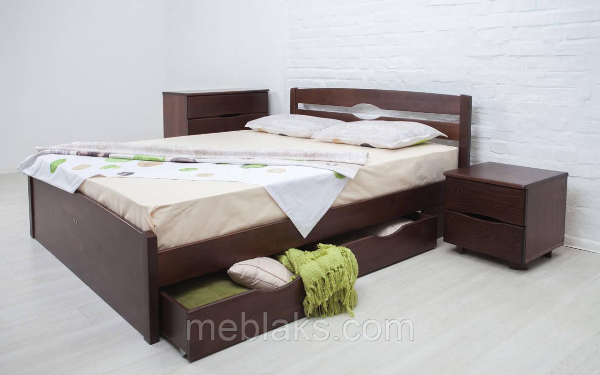 Дерев'яне ліжко Ліка Люкс з ящиками 80х190 див. Аурель (Олімп)