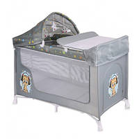 Манеж кроватка Bertoni SAN REMO 2L+ (grey cute kitten)