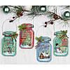 Набор для вышивания Dimensions 70-08964 «Рождественские баночки» • «Christmas Jar Ornaments»