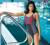 Купальник разноцветный для бассейна подростковые размеры М, L, 2XL