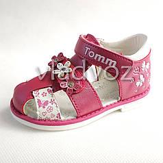 Детские босоножки сандалии для девочки, девочек малиновые 21р. Том.м
