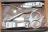 Маникюрный набор, 9 предметов, коричневый в форме бумажника, фото 3