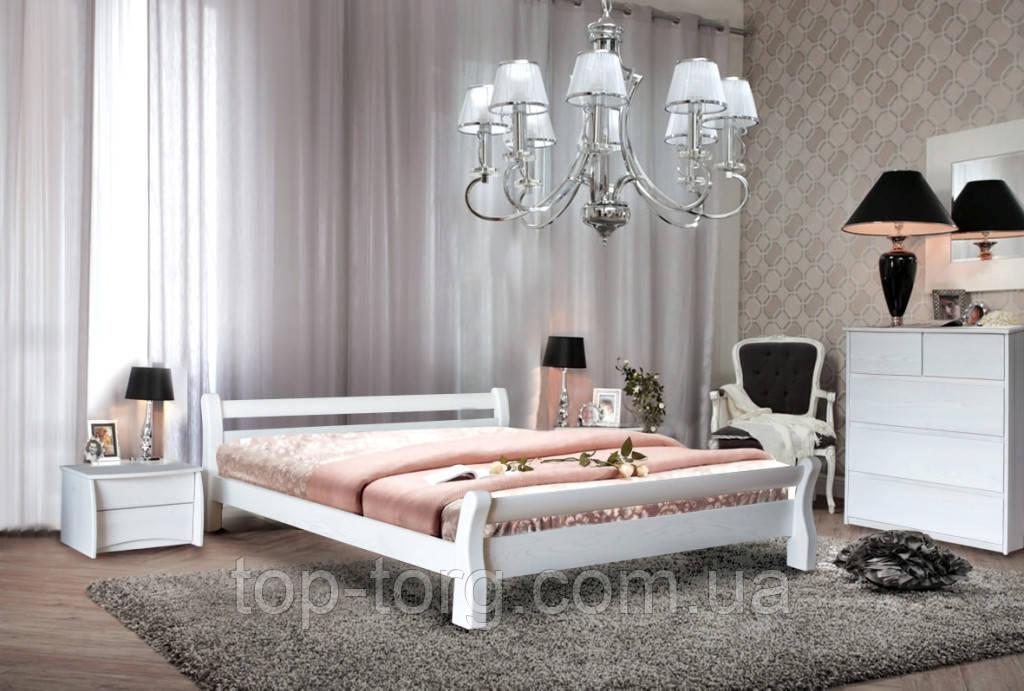 Ліжко Монреаль, білий (ясен) 1600х2000мм дерев'яна