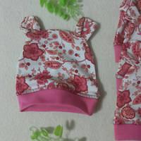 Шапочки с ушками интерлок для новорожденных 50-56см