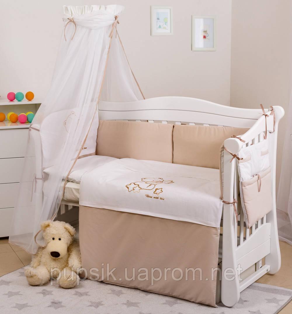 Постельный комплект для новорожденного Twins Dolce Loving Bear D-009 (8 предметов)