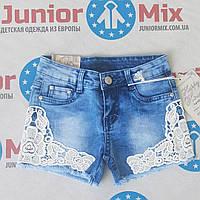 Джинсовые детские шорты для девочек оптом HAPPY & HOUSE