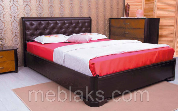 Деревянная кровать Милена Мягкая спинка ромбы 120х190 см. Аурель (Олимп), фото 2