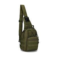 """Тактический рюкзак-сумка однолямочный """"ONE STRAP ASSAULT PACK SM"""" олива"""