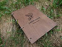Деревянная папка меню с кольцами (А4)