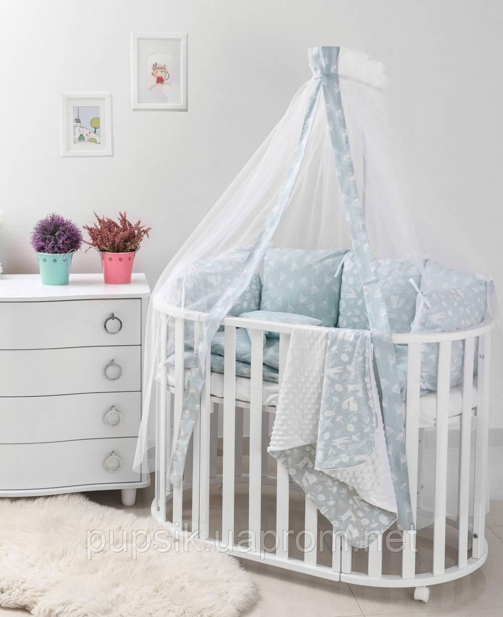 Постельный комплект для новорожденного Twins Dolce Лесные жители D-012 (8 предметов)