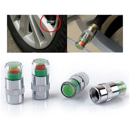 Колпачки на колеса индикатор давления в шинах  (цена за 1штуку), Датчик контроля давления в шинах до 2,0атм, фото 2