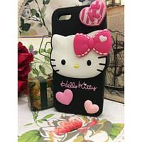 Силиконовый Чехол Hello Kitty на IPhone 5/5S Черный