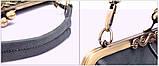 Сумка жіноча в вінтажному стилі (сіра), фото 8
