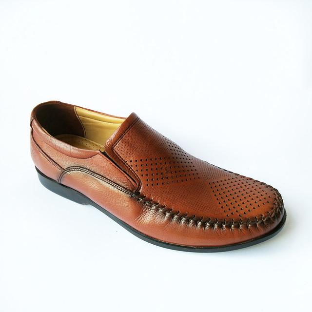 Кожаная турецкая мужская обувь модные летние мокасины, сочного коричневого цвета, под ложку, дешево