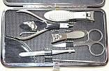 Маникюрный набор, 12 предметов, в серо-бежевом футляре, фото 2