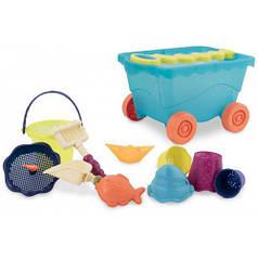 Набор для игры с песком и водой Battat - ТЕЛЕЖКА МОРЕ 11 предметов BX1596Z