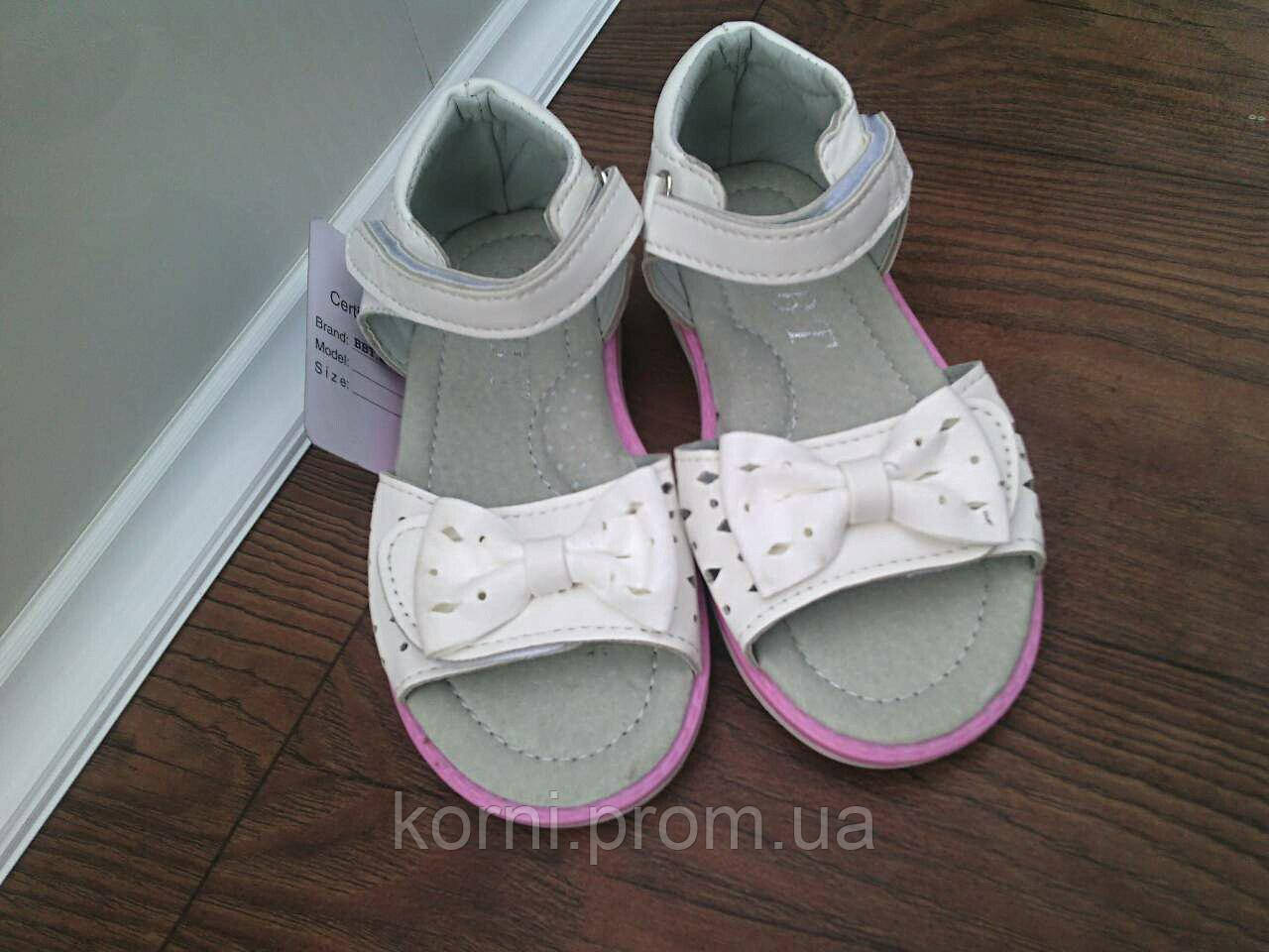 72c78538c Белые босоножки нарядные сандали для девочки размер 27 - Интернет-магазин