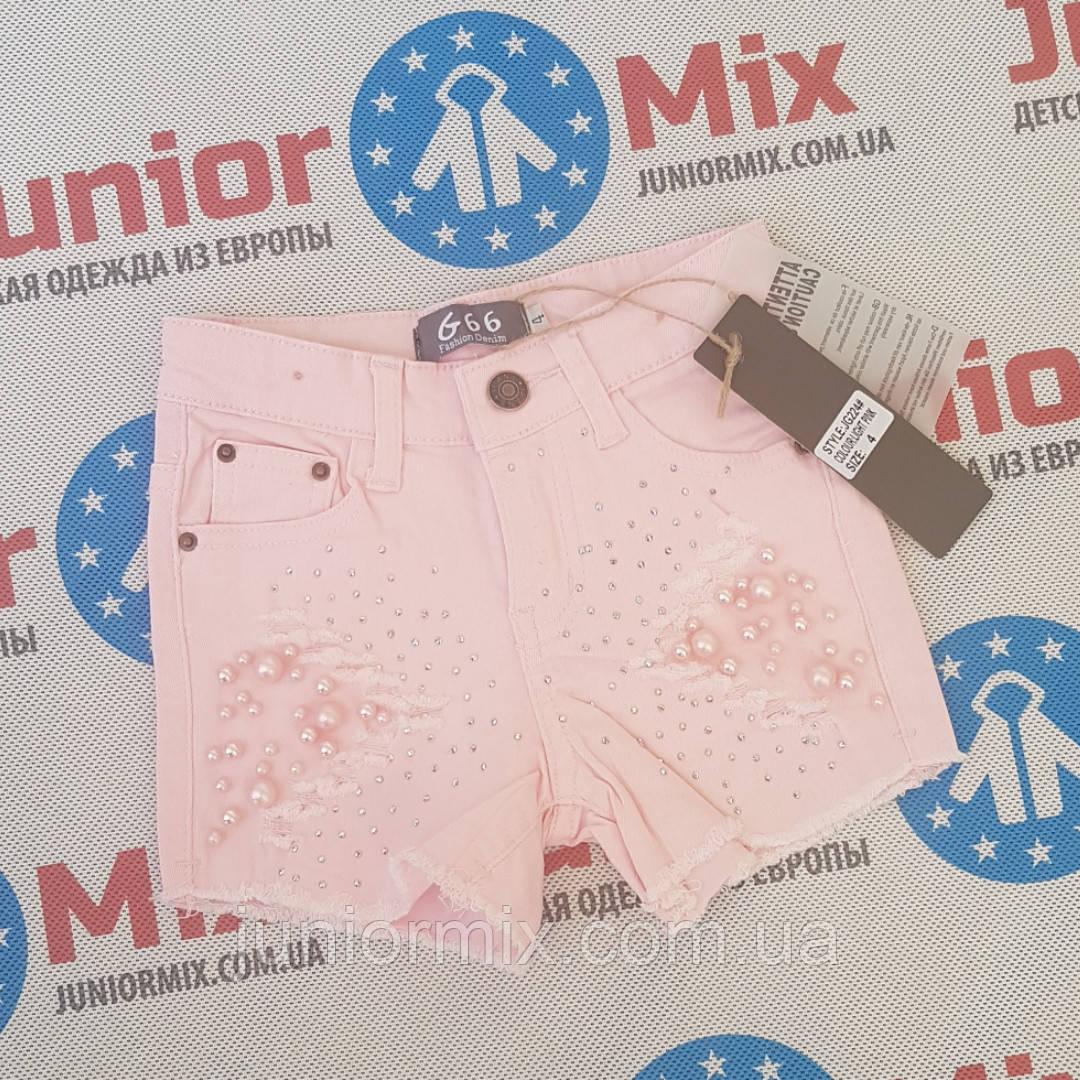 Котоновые летние шорты для девочек оптом  G66