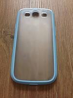 Чехол-бампер голубой для Samsung Galaxy S3 i9300, фото 1