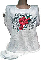 "Женские футболки ""Роза"""