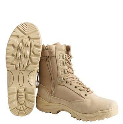 Ботинки Mil-Tec Tactical Boot Zipper YKK Khaki 12822104  размеры 38,39,40,41,42,43,44,45,46
