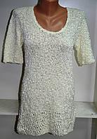 Женская туника белого цвета с коротким рукавом, фото 1
