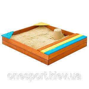 Песочница 6 с ящиком для игрушек (код 134-3559)