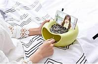 Миска для семечек с подставкой для телефона, салатовая (122149)