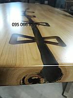 Столешницы из дерева с эпоксидной смолой, столы из массива дерева, деревянные слебы