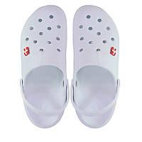 Женские кроксы белые с серым. Копия., фото 1
