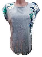 Женская футболка с каймой