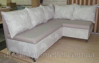 Кухонный диван угловой раскладной с подушками