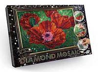 """Набор для творчества diamond mosaic алмазная живопись маки артикул dm-02-04   """"danko toys"""""""