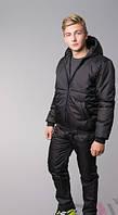 Костюм мужской теплый куртка и штаны на синтепоне в батале, фото 1