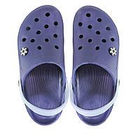 Женские кроксы синие с серым. Копия.