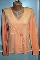 Джемпер женский с длинным рукавом персикового цвета, фото 1