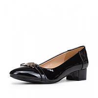 Женские туфли на каблуке. Черные. Лак. 00853951, фото 1