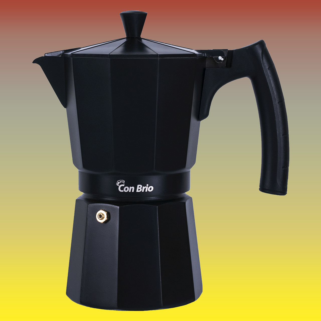 Гейзерная кофеварка, чёрная на 450 мл.