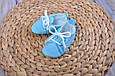 Пинетки хлопковые, голубые, фото 2