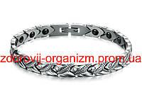 Магнитный женский браслет Лилия - Сильвер стразы Вековой Восток