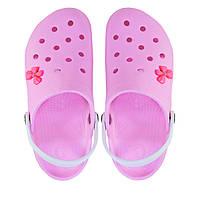 Женские кроксы розовые. Копия.