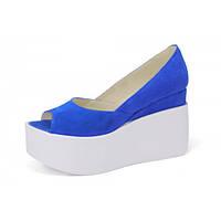 Туфли на платформе. Синие.