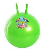 Мяч для фитнеса (фитбол) детский 55 см, с рожками, разн. рисунки