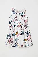 Детский сарафан платье (бабочки) Sleeveless jersey dress 6-8 лет, HM