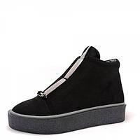 Ботинки на толстой подошве. Черные.