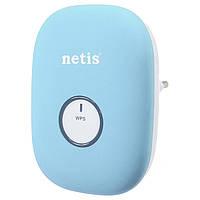 Усилитель Wi Fi Netis E1+ Blue Range Extender, 300Mbps, репитер вай фай, ретранслятор, повторитель сигнала