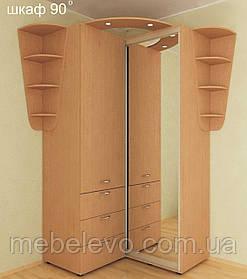 Шкаф-купе угловой приставной Стандарт 125х130 h-240, ТМ Феникс