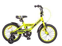 """Велосипед 16"""" PRIDE Flash 2014 зелено-черный"""
